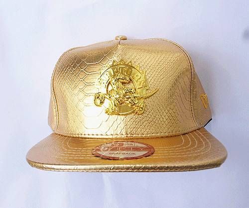 Toronto Raptors NBA ALL Golden Leather Snapback Hats Golden Logo ... 6c17eacbaa9