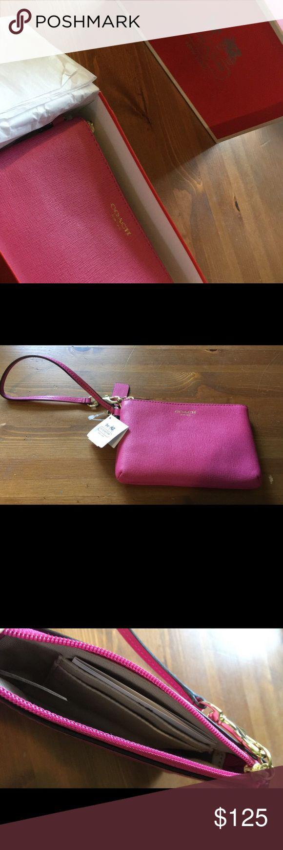 Pink Coach Wallet New pink Coach wallet! Coach Bags Wallets