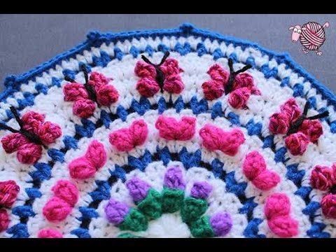 Tunisian Crochet Roses - YouTube