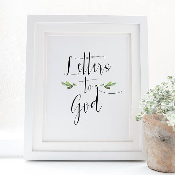 Letters to God  Scripture Art  Bible Verse  Verse art