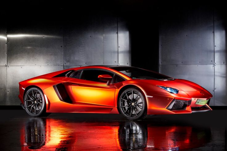 lamborghini aventador matte orange red chrome wrap will. Black Bedroom Furniture Sets. Home Design Ideas