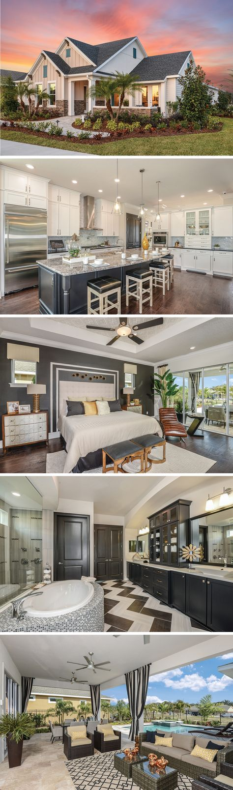 The Edencrest by David Weekley Homes in Encore is a 2 bedroom, 2 bath floorplan that features an open kitchen and family room layout, a large owners retreat with tray ceilings and a private lanai. Custom home upgrades include an extended lanai, a shower in the master bathroom or a 3 car garage.