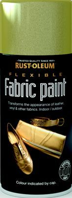 Rust-Oleum - Flexible Fabric Paint Gold - Spray - 150ml