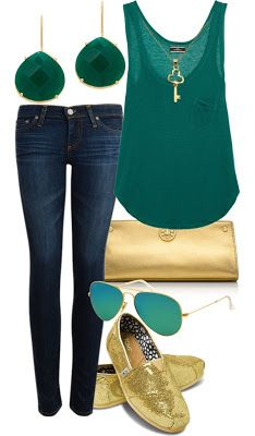 !!! I have some gold flats, this is THE outfit :D