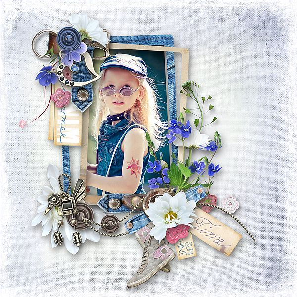 Blue Jeans Summer by MiSi Scrap http://www.digiscrapbooking.ch/shop/index.php… Photo Lenka Henulka Milerová