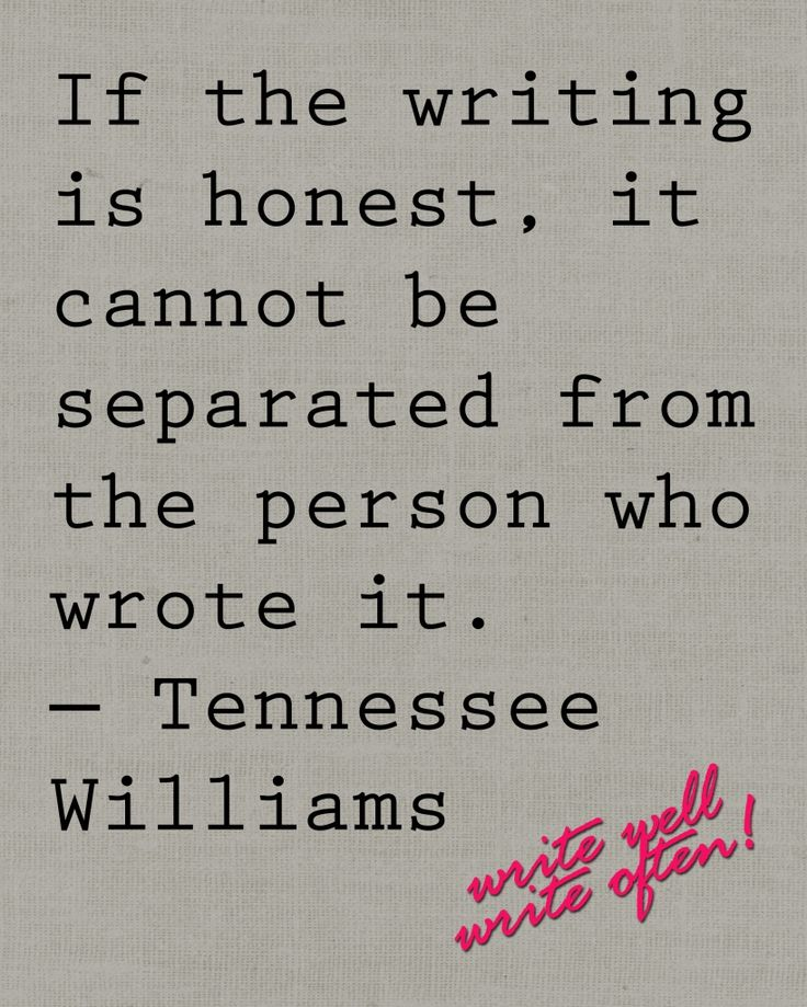 Writing a paper on tennesse williams