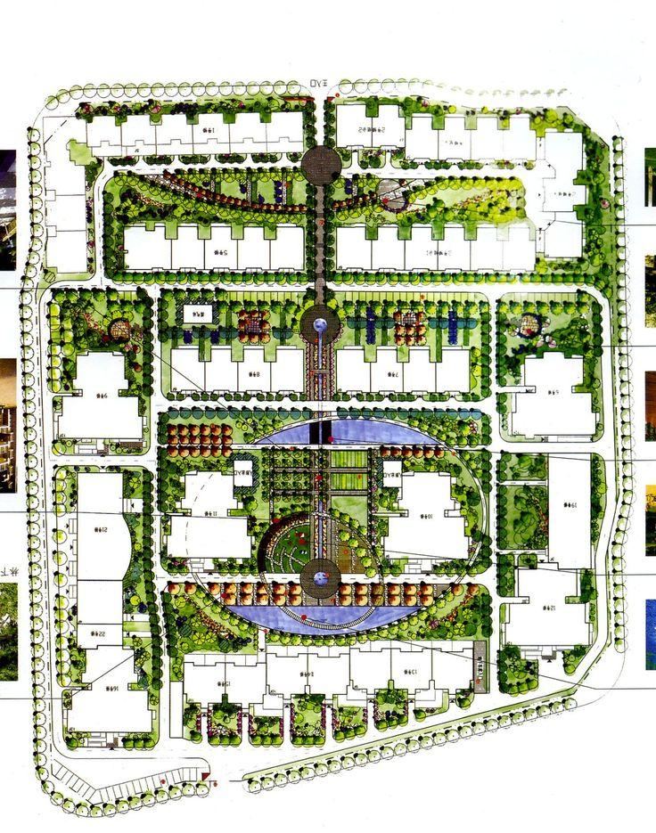 311 best master landscape images on pinterest landscape for Master plan landscape architecture