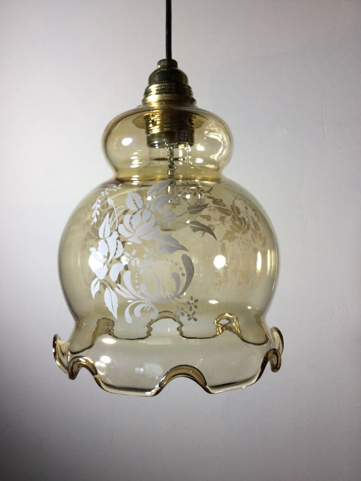 89 best vintage french lighting images on pinterest lamp shades pretty vintage french frilly glass lampshade glossy clear glass with subtle coffee colour with a aloadofball Image collections