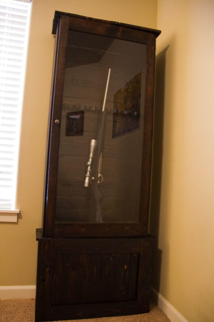 Double pistol handgun revolver gun display case cabinet rack shadowbox - Wilsons And Pugs Pallet Gun Cabinet