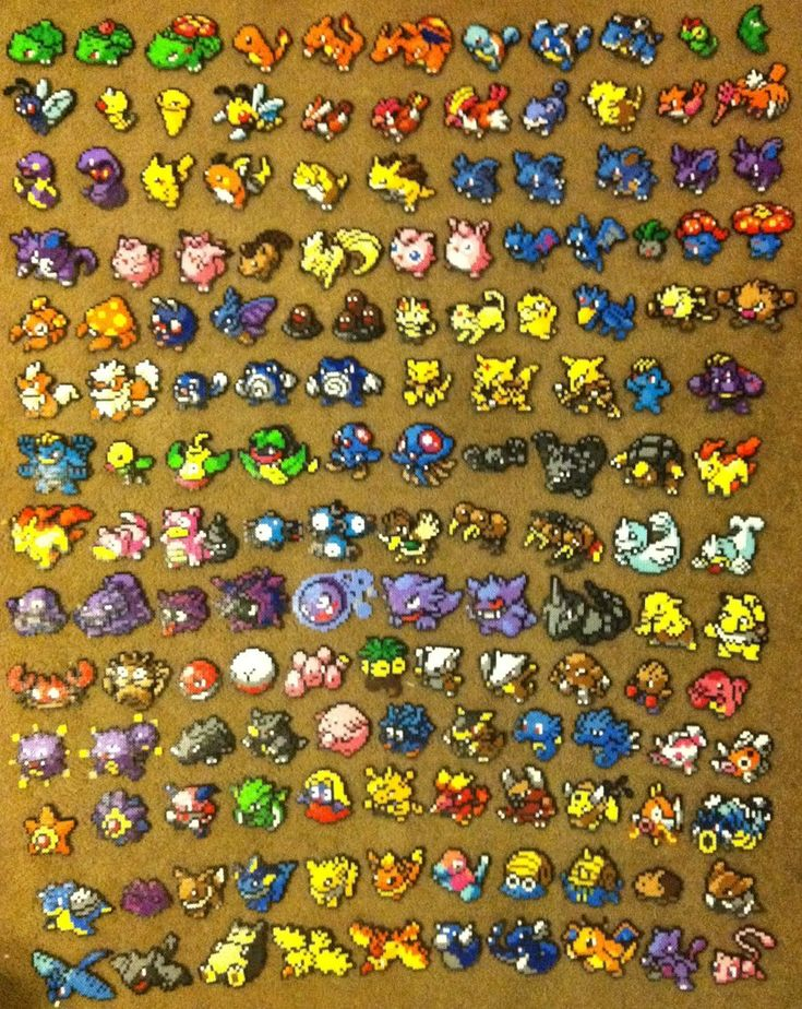 Perler bead Art: 151 Pokemon by thewiredslain on deviantart