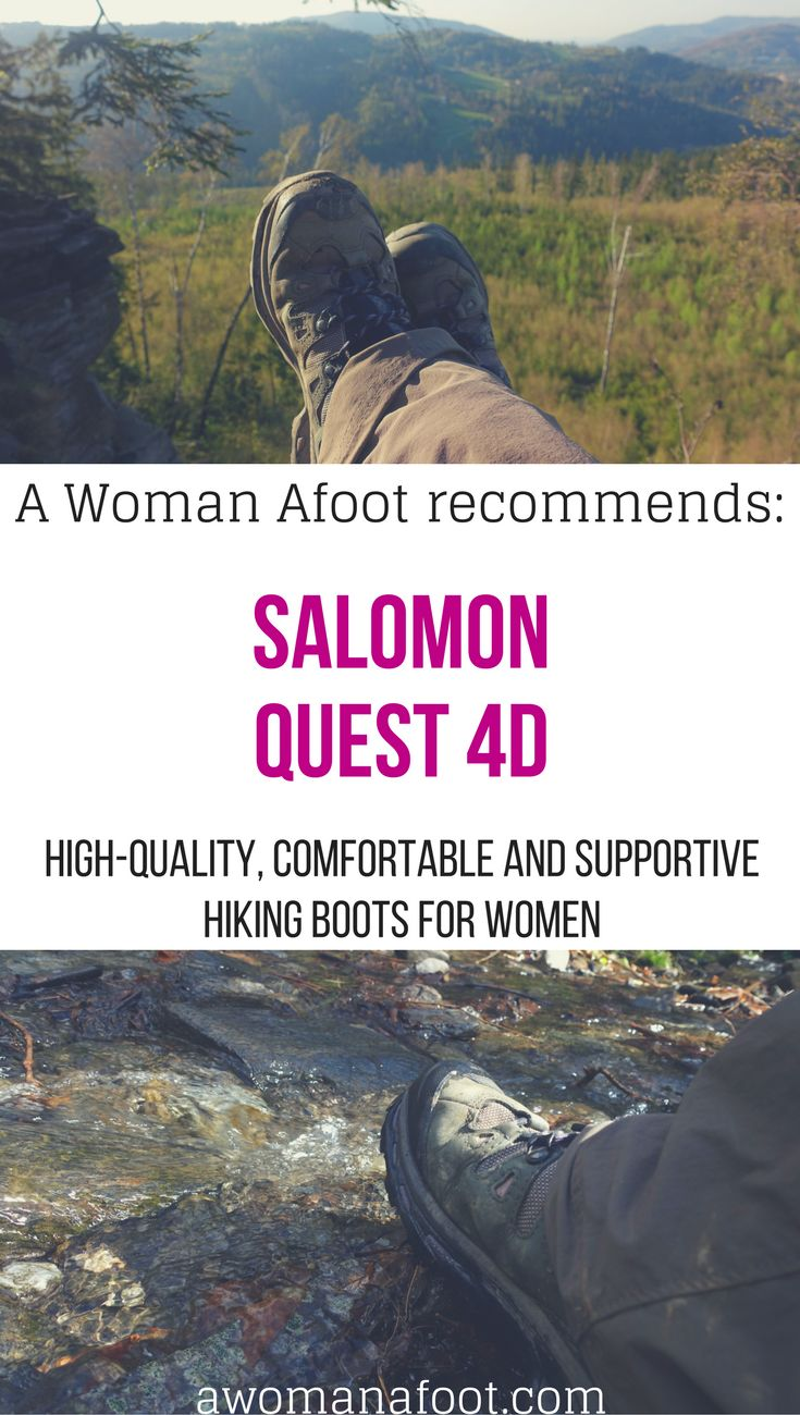 On the quest to find the perfect female hiking boots? Lucky you! I've got just the perfect pair! Tried and tested: best hiking boots for women - Salomon Quest 4D.