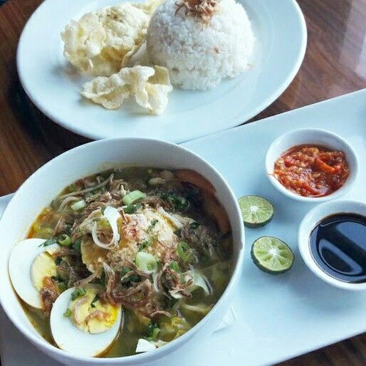 """At the moment when you just thought, """"What's lunch for today ?"""" The answer is simply """"Soto Ayam"""" this authentic Indonesian Cuisine could be ordered within our Lunch Package. So, what are you waiting for ?  #on20makassar 