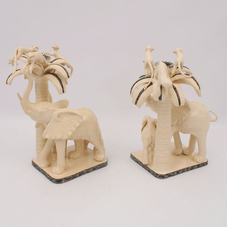 Ardmore Elephant Candle Holders