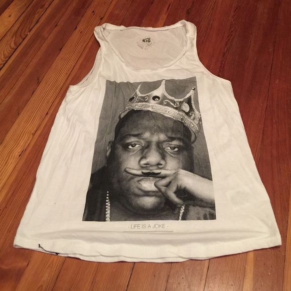 "Eleven Paris Notorious BIG tank size large Eleven Paris Notorious BIG tank ""life is a joke"" size large. Good used condition. Eleven Paris Tops Tank Tops"