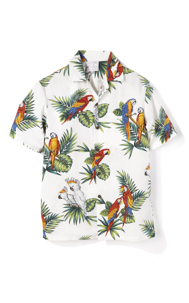 Shop Stella Jean Parrot Print Hawaiian Shirt at Moda Operandi