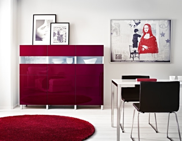 Larmoire BEST TOFTA Rouge Ultrabrillant Conjugue Merveille Design Et Fonction Ikea Living Room