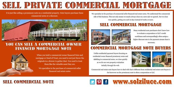 Try this site    solziluce selling-a-commercial-mortgage - mortgage note