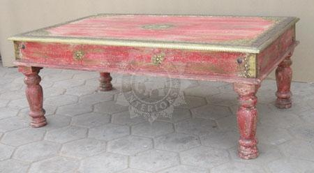Elephant Original - Indian Painted Coffee Table (EI-178) - Indian Furniture | Elephant Interiors