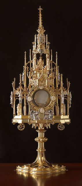 Monstrance, at Saint Francis de Sales Oratory, in Saint Louis, Missouri, USA