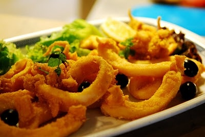 Choco frito, Fried cuttlefish from Setubal, Portugal