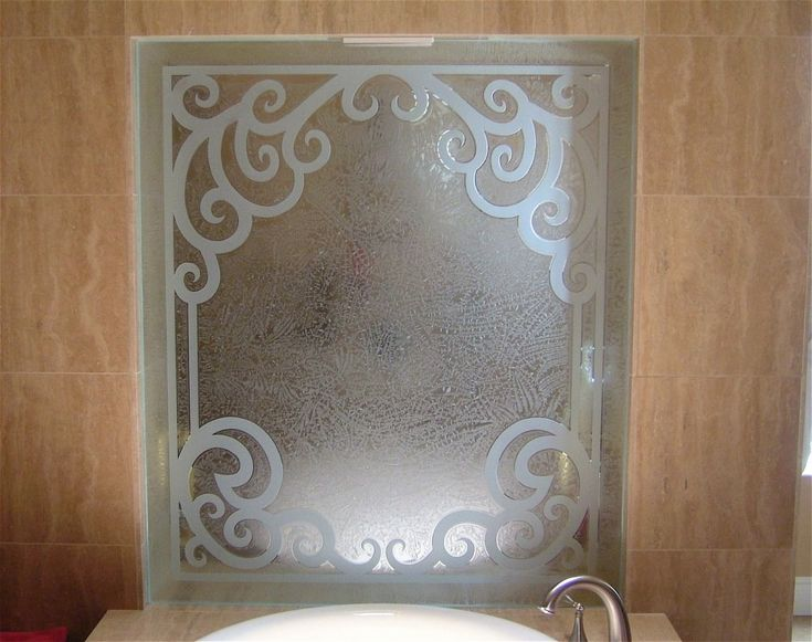 CR: from Google Images.Cncrd Elgn Glass Shower Panels Etched Glass Tuscan Style