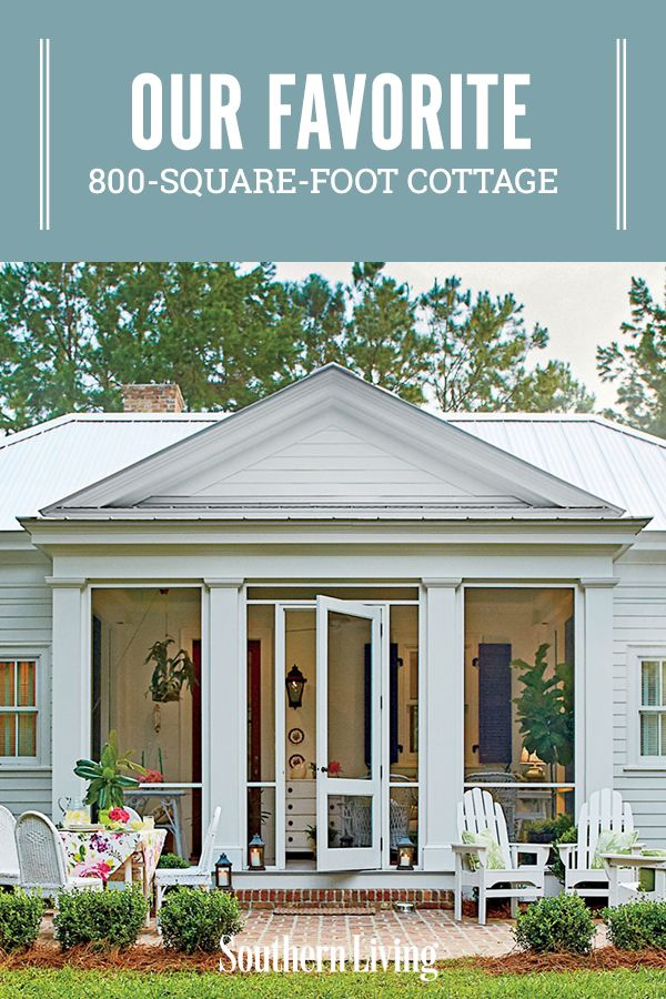 Our New Favorite 800 Square Foot Cottage That You Can Have Too In 2020 Cottage House Plans Cottage Southern Living House Plans