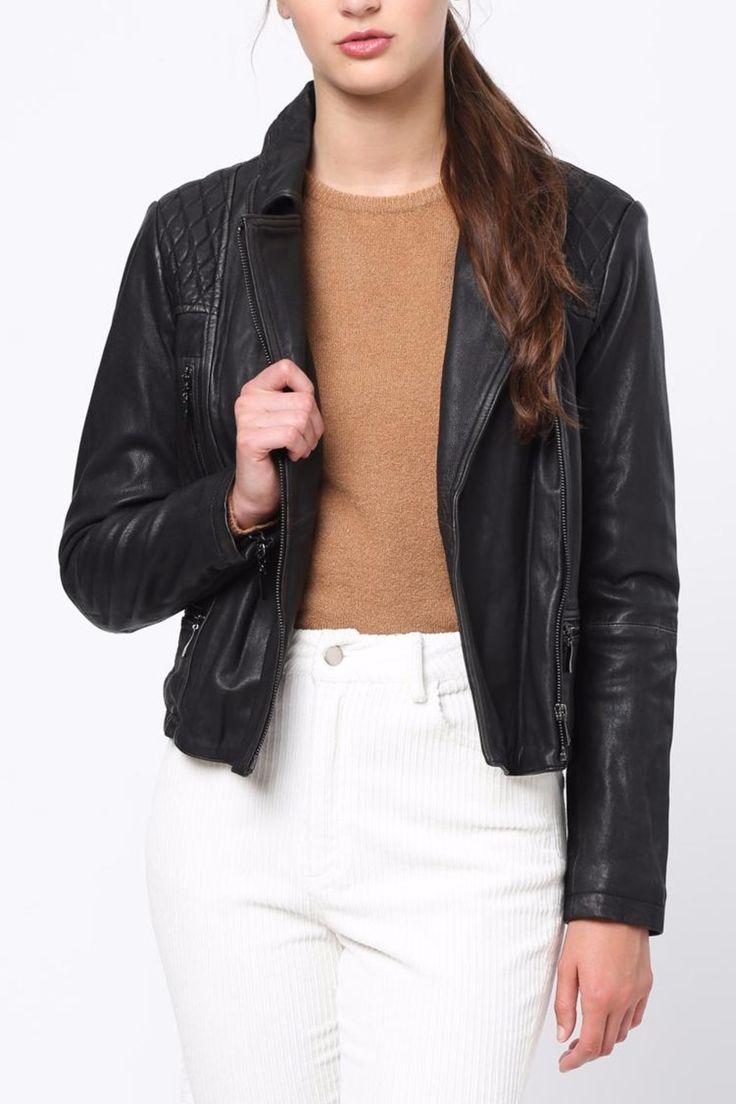 A beautiful moto jacket made of 100% lamb leather.   Bike Leather Jacket by Movint. Clothing - Jackets, Coats & Blazers - Moto Los Angeles, California