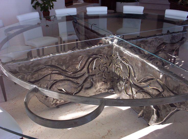 tavolo tondo in ferro