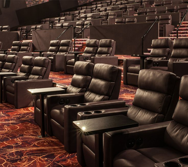 CINEPLEX REDBANK PLAZA: Cineplex Redbank Plaza in Brisbane, installed the Alloyfold Tchaikovsky cinema seat in their Gold Class theatres as part of their cinema refurbishment. Cineplex wanted to provide comfortable and luxurious seating that could also withstand the rigours of their client base.  Excitingly, these leather electric recliners were the first installation to also feature electric pillow recliners to lift a patron's head while reclined.