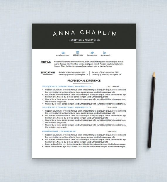 19 Best Resume Design Images On Pinterest | Cv Template, Resume
