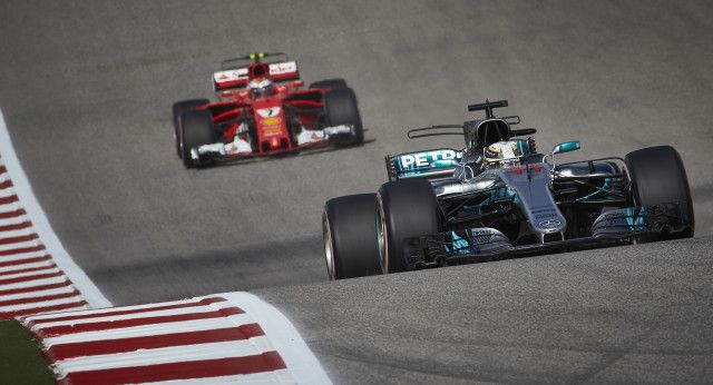 Hamilton passes Vettel to win 2017 Formula 1 United States Grand Prix  Mercedes-AMGs Lewis Hamilton at the 2017 Formula 1 United States Grand Prix  Enlarge Photo  Mercedes-AMGs Lewis Hamilton raced to his 62nd career victory on Sunday at the 2017 Formula 1 United States Grand Prix and his fifth at the Circuit of The Americas where the race is held.  Ferraris Sebastian Vettel claimed second spot after crossing the line 10.143 seconds behind Hamilton.  It initially looked like Red Bull Racings…