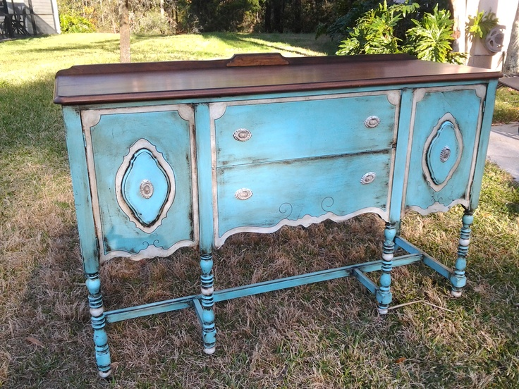Antique Shabby Chic Vintage Buffet Server By HandpaintedbyCookie, $495.00 |  Furniture/Decorating | Pinterest | Vintage Buffet, Buffet Server And Buffet