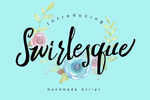 Swirlesque Typeface + Bonus by Dirtyline Studio on Creative Market