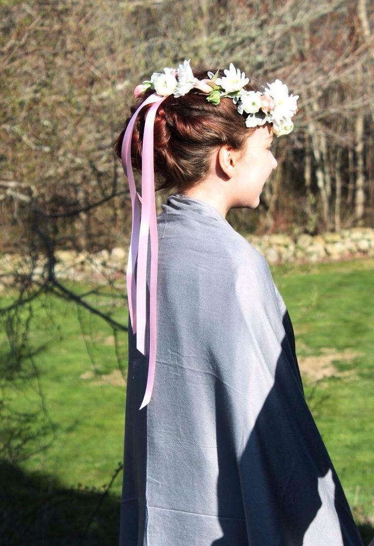 Junior bridesmaid hair accessories - Floral Crown For A Junior Bridesmaid In A Wedding