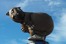Fatso the Fat-Arsed Wombat - Wikipedia, unofficial Mascot- Australian Olympics. Created as a protest against the commercialization of Olympic mascots.