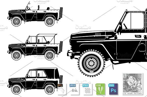 All-road vehicle  by CatMadePattern on @creativemarket