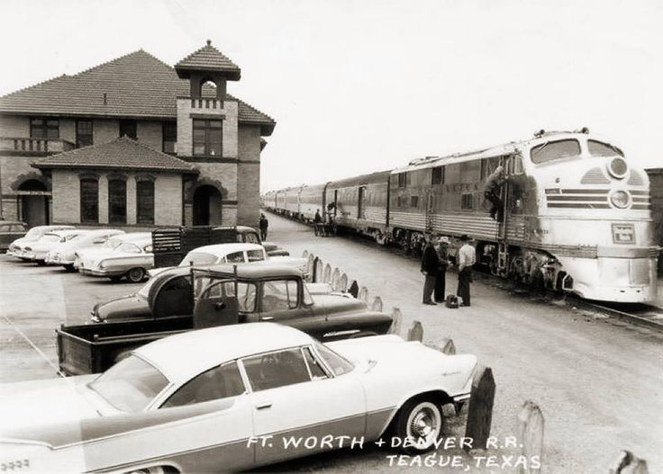 Circa 1960 Photo Of The Fort Worth And Denver City Railroad In Teague Texas