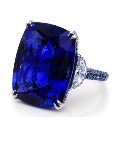 37.18 carat Tanzanite and Diamond Ring by Martin Katz
