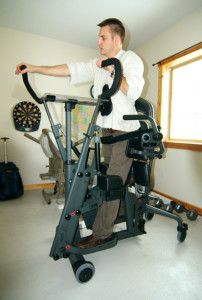 Exercise for Wheelchair Users | EasyStand Glider Standing Frame