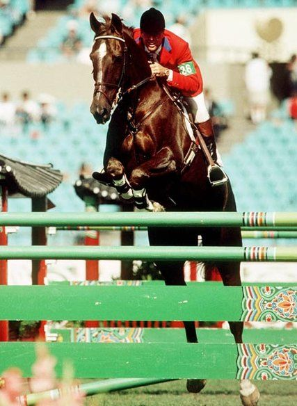 Canada's Ian Millar- 65- and his most famous Olympic partner- Big Ben. Millar starts in his 10th Olympic Games since 1972 until present. He competed 3 Games in a row on world famous Big Ben- who won more than 40 Grand Prix titles in their time together.