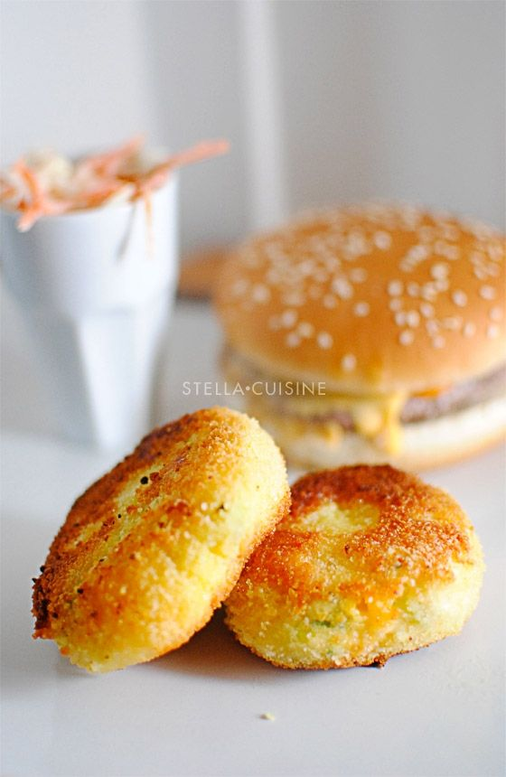 Potato Croquettes -600 grams of potato -80 grams pf farmhouse cheddae -2 egg yolks -1 whole egg -1 tablespoon milk -2 medium carrots -1/2 zucchini -chives -breadcrumbs -flour -oil for frying