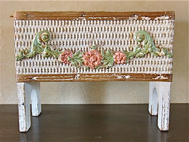Vintage Barbola Wicker Footed Planter Box Www