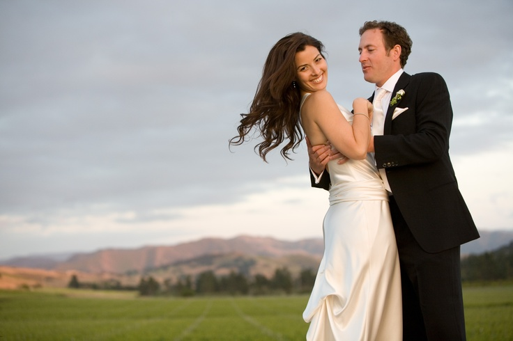 Enjoying being newlyweds in wine country at Foley Winery