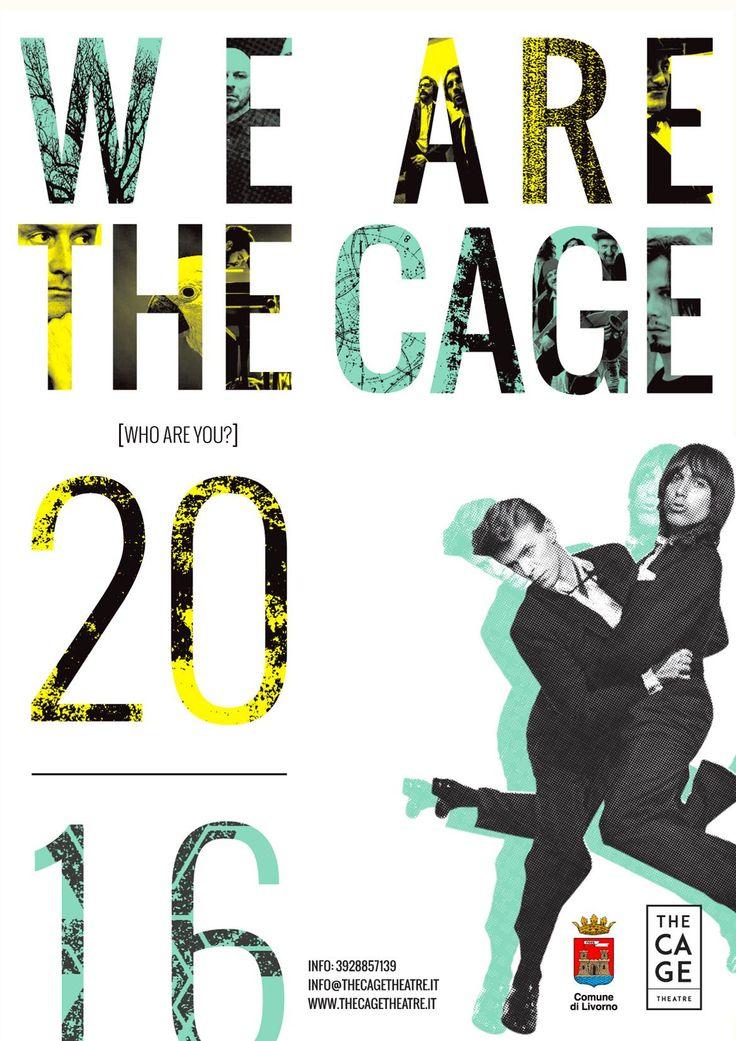 Immagine promozionale programma 2016 The Cage Theatre Progetto grafico a cura di Genial Pixel.