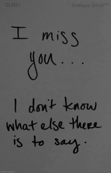 Idk if you miss me or us but I miss you every day I'm sorry