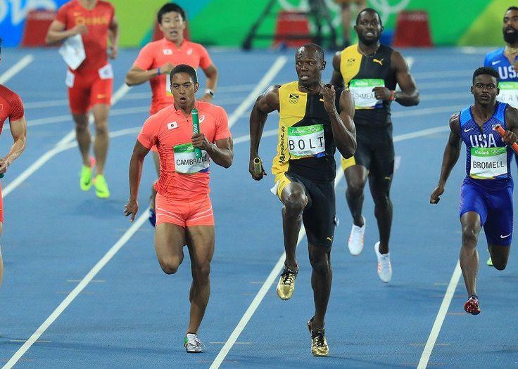 リオ五輪 陸上男子400mリレー決勝 日本が銀メダル、ジャマイカ優勝でボルト3冠 #リオ五輪 #陸上