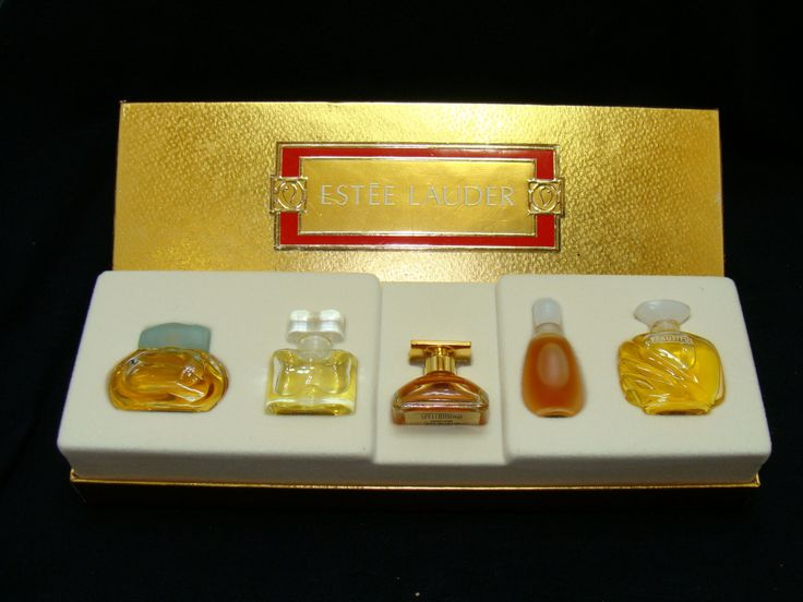 Estee lauder perfume set-knowing perfume-white linen perfume-spellbound perfume-private collection perfume-beautiful perfume-mini set by BECKSRELICS on Etsy