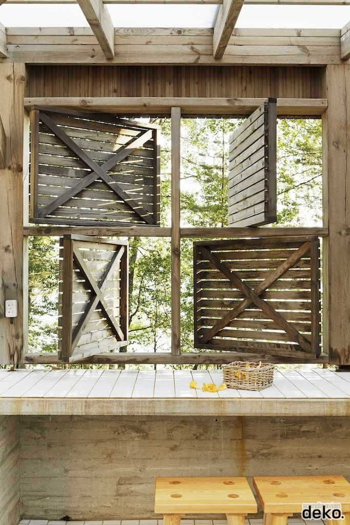 Great idea for patio privacy, but allows for ventilation.