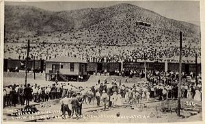 The Bisbee Deportation was the illegal deportation of about 1,300 striking mine workers, their supporters, and citizen bystanders by 2,000 vigilantes on July 12, 1917. The workers and others were kidnapped in the U.S. town of Bisbee, Arizona and held at a local baseball park. They were loaded onto cattle cars and transported 200 miles through the desert without food or water. The deportees were unloaded in New Mexico without money or transportation, and warned not to return to Bisbee.