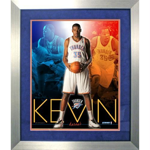 Kevin Durant Oakland City Thunder Team Colors Composite Vertical Framed 16x20 Collage